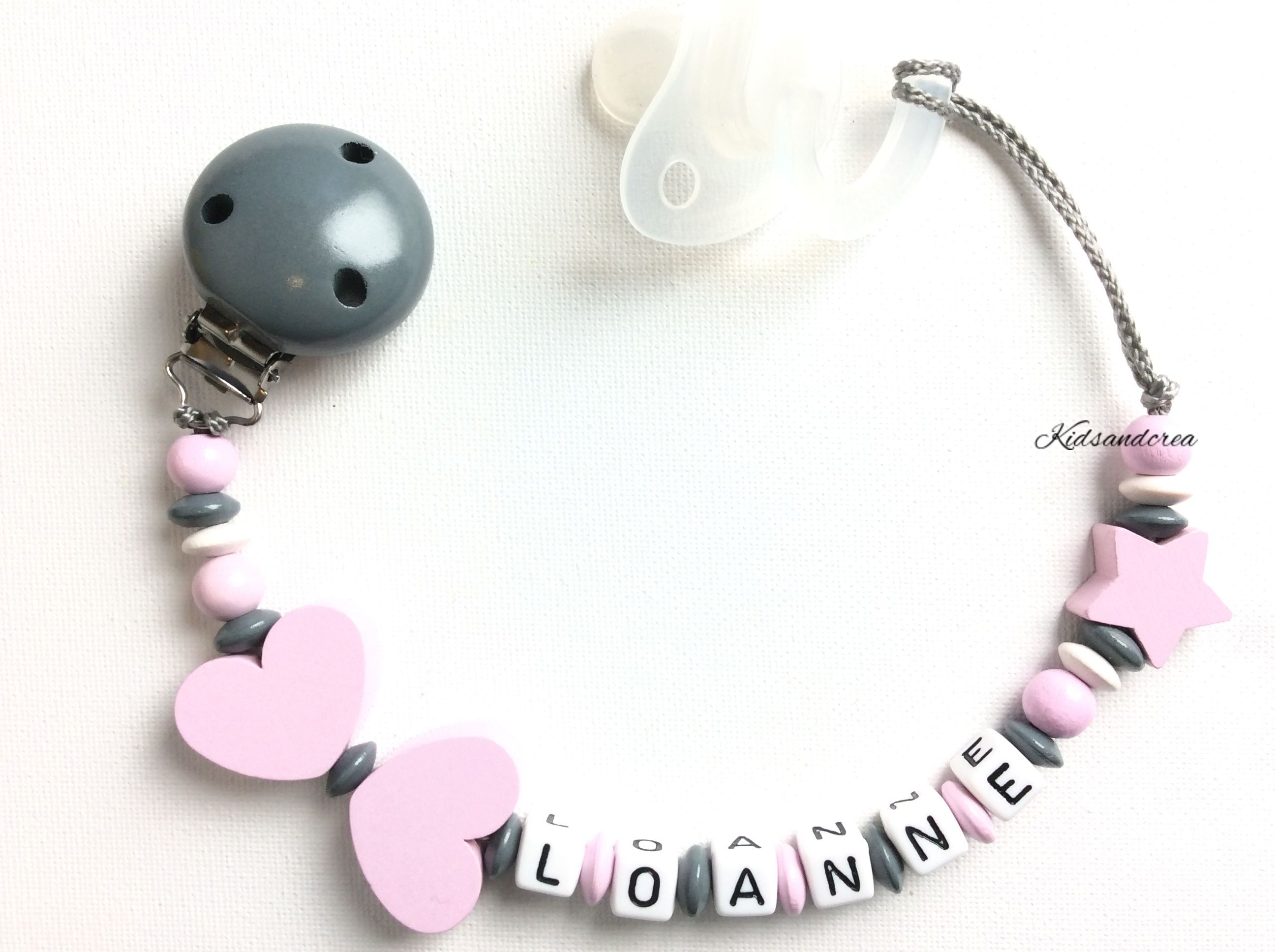 Personalised silicones Teething Beads Bague Wooden Rattle Chew Baby Shower Poison UK
