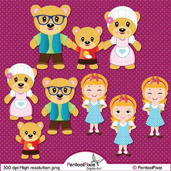 Free Three Bears, Download Free Clip Art, Free Clip Art on Clipart Library