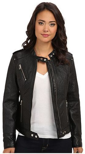 Kenneth Cole New York Quilted Faux Leather Jacket