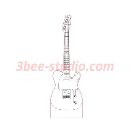Fender Telecaster Guitar 3d Illusion Lamp Plan Vector File For Laser And Cnc 3bee Studio In 2020 3d Illusions Telecaster Guitar Telecaster