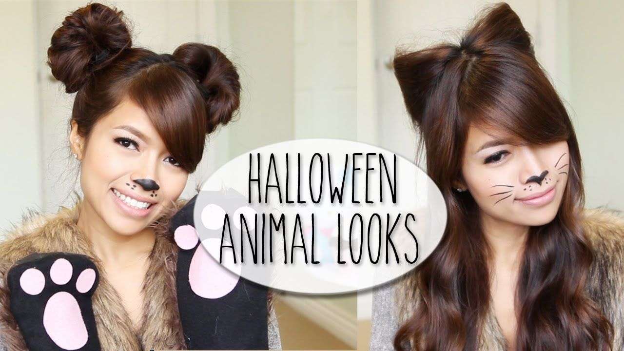 So Easy Diy Halloween Costume Ideas Bear Cat Ears Hairstyle Makeup Tutorial Halloween Hair Crazy Hair Crazy Hair Days