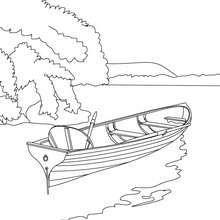 Petite Barque A Colorier