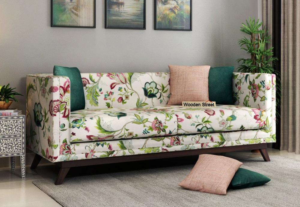 Buy Berlin 3 Seater Sofa Fabric Rose Vineyard Online In India Fabric Sofa Sofa Sofa Set