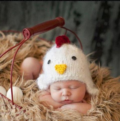 Newborn baby Crochet Yellow cute chick Outfit Hat Set Photo Props for baby shower party costume