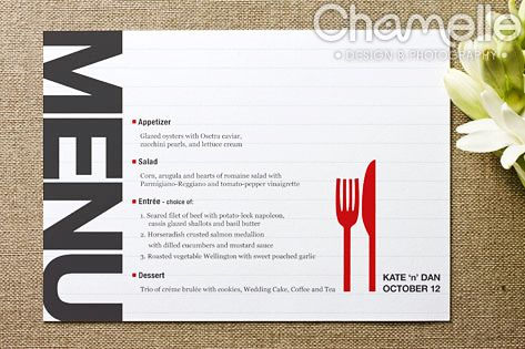 Wedding menu card design | Projects to Try | Menu card