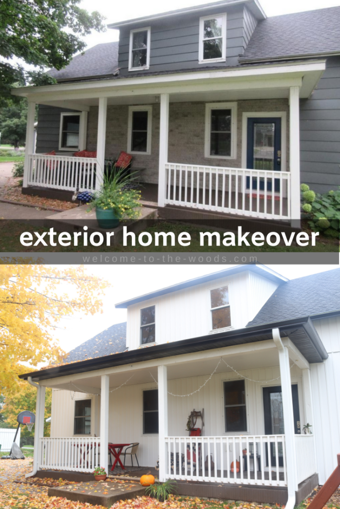 Exterior Home Makeover Farmhouse Renovation Farmhouse Renovation House Exterior Garage Door Styles