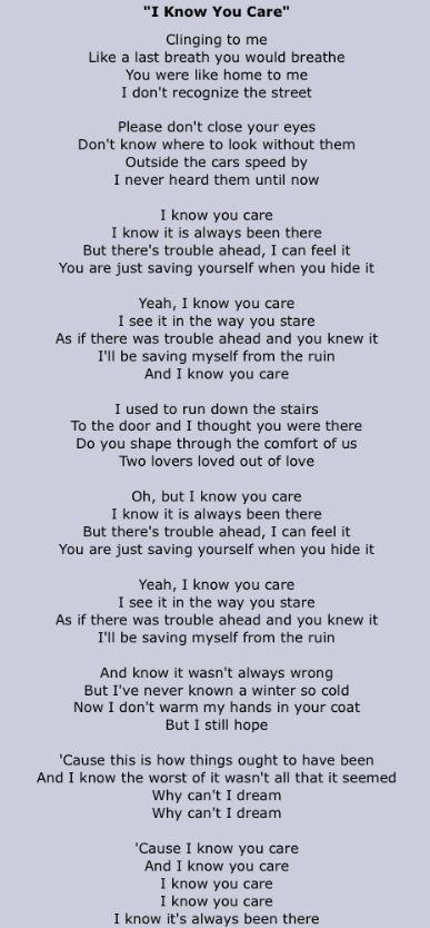 poem i know you