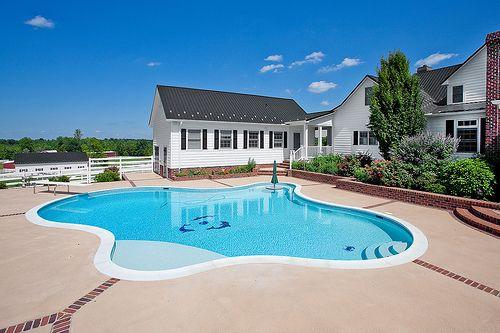Awesome Big House Pool Backyard Big Houses With Pools