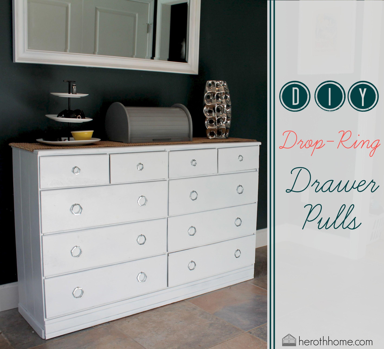Diy Drop Ring Drawer Pulls (2839×2585) | Home | Pinterest | Drawers