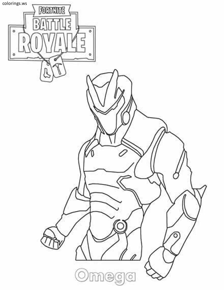 Fortnite Omega Coloring Page Fortnite Coloring Pages Free