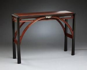 """""""Colorado River Bridge"""" is typical of the clean lines of tables by Loveland artist Ed Darchuk."""