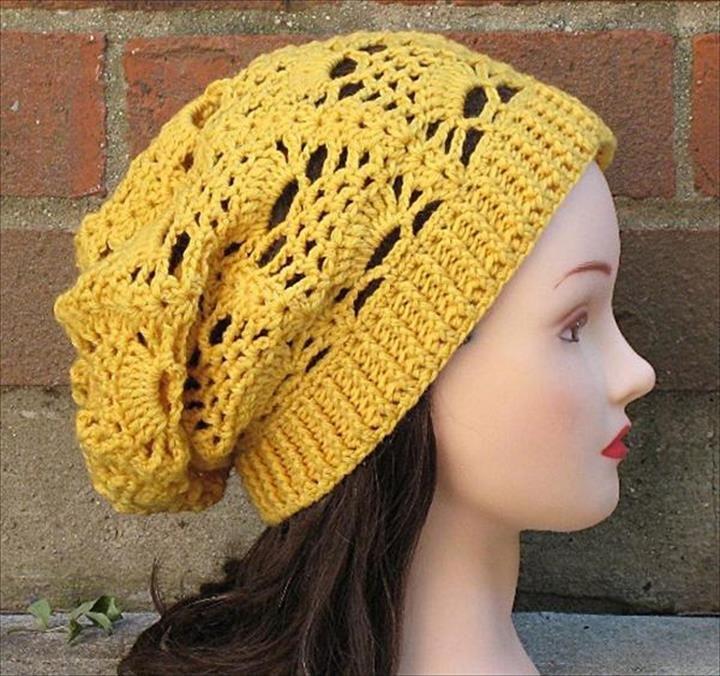 26 DIY Crochet Brimmed Beanie Hats | Diy crochet, Crochet and Free ...