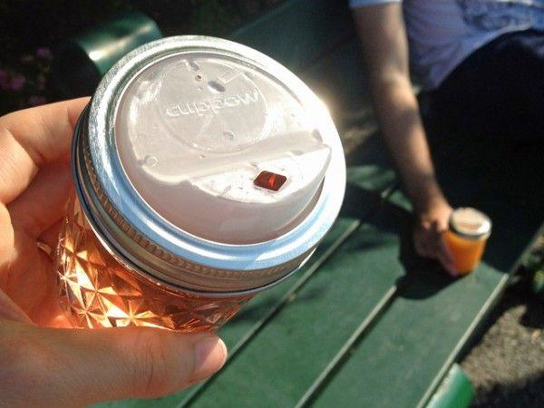 Cuppow: Mason Jar Cups Drinking Lid  I am ordering mine, what a great idea!