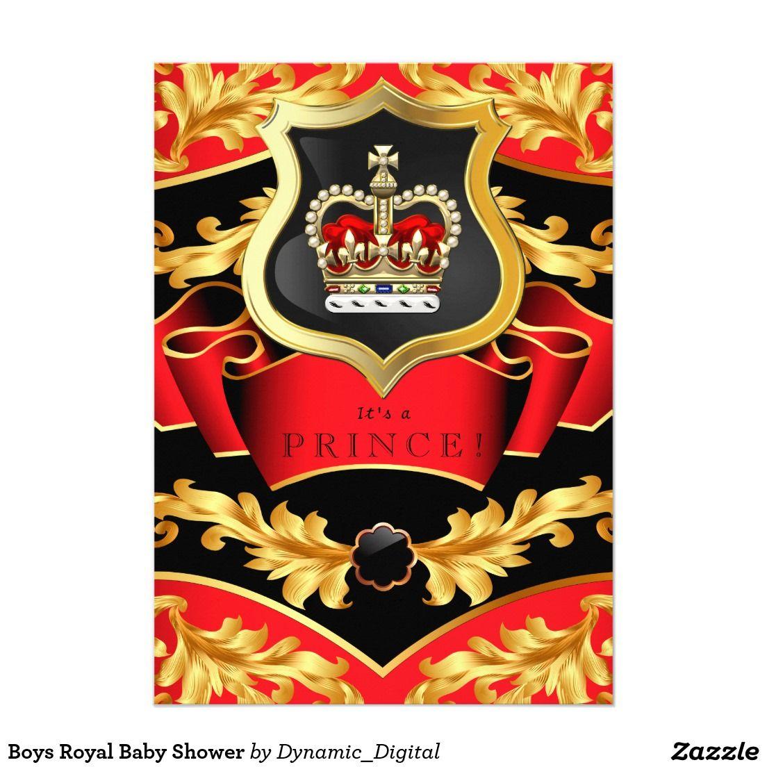 Boys Royal Baby Shower Card | Royal baby showers, Royal babies and ...