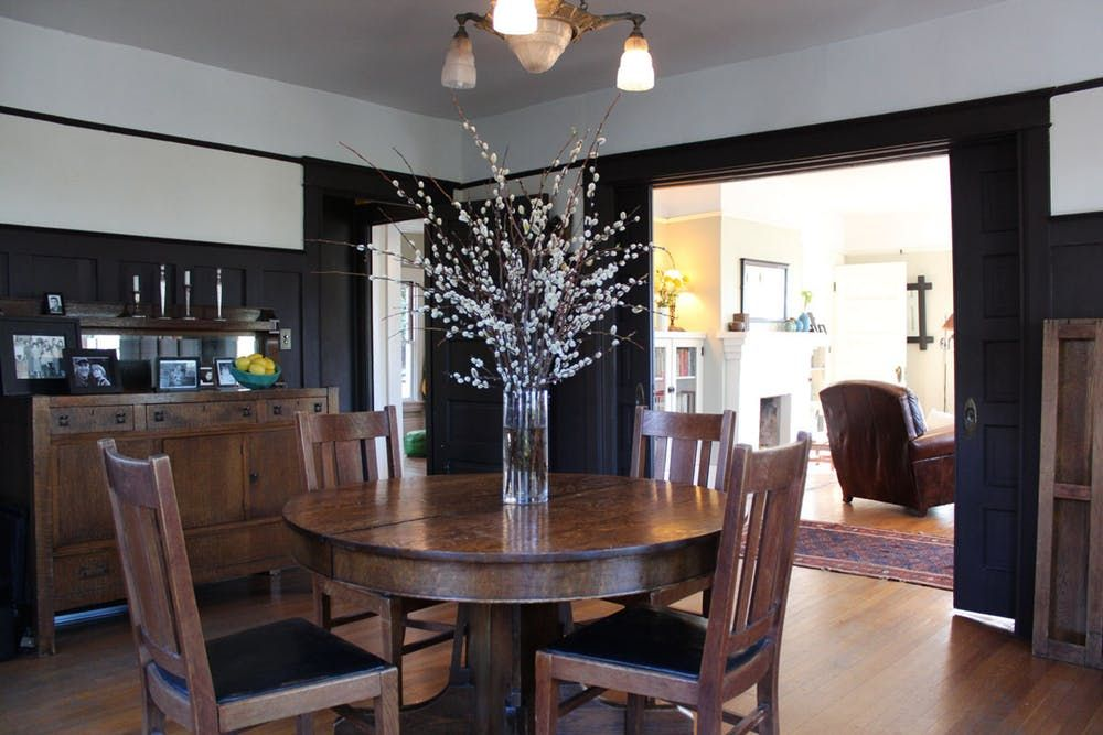 Clare Thierry S 1905 Echo Park Craftsman Dining Room Wainscoting Wainscoting Styles Craftsman House