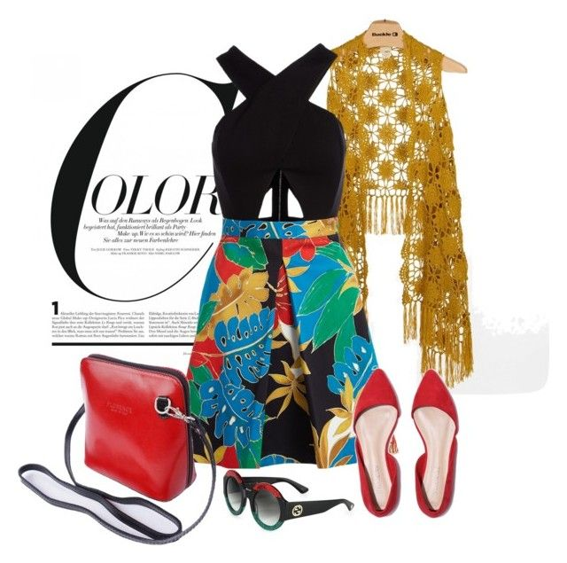 """""""Bold Prints"""" by janie-xox ❤ liked on Polyvore featuring Daytrip, Alice + Olivia and Gucci"""