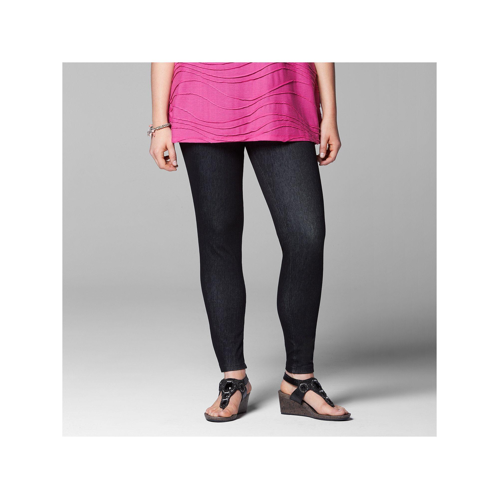 55125c35ffb Plus Size Simply Vera Vera Wang Rivet Denim Leggings