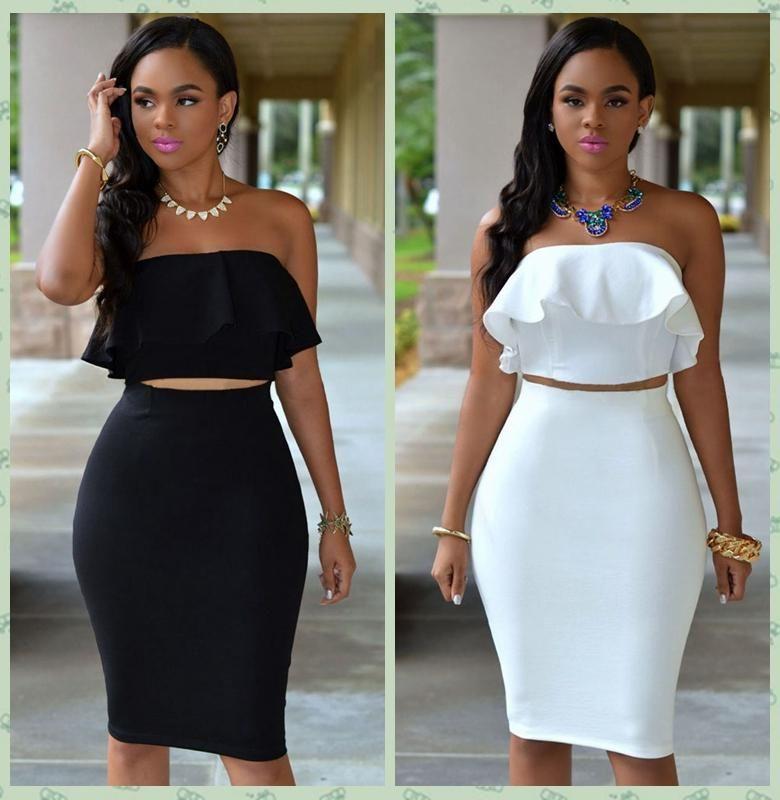 High Waisted Skirt With Top - Dress Ala
