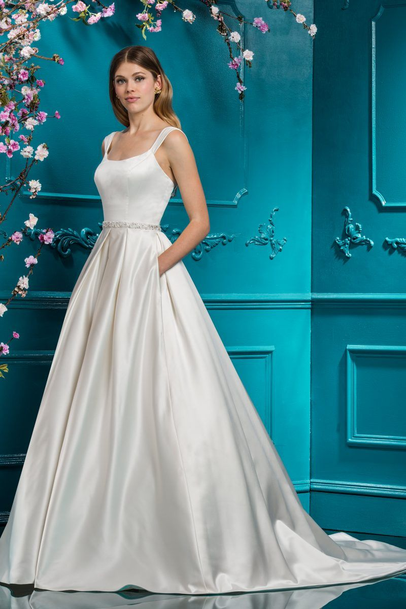 Satin Ballgown | Style 18089 | Sleeveless Matrimonio Dresses ...