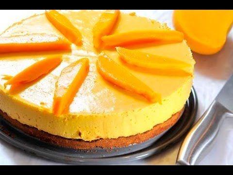 Pastel helado de mango recetas de postres faciles y for Postres faciles
