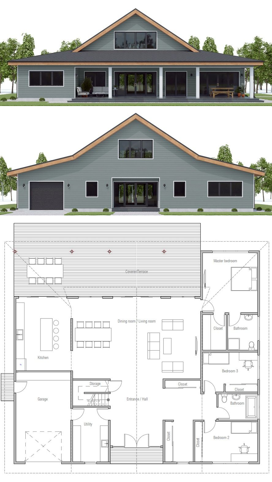 Modern Farmhouse Design Farmhouse Barndominium Homeplans Barn House Plans Barn Style House Barn Homes Floor Plans