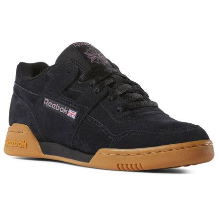 8e278bcb835b8 Reebok Shoes Men's Workout Plus MU in Spg-black/Noble Orchid/Gum ...
