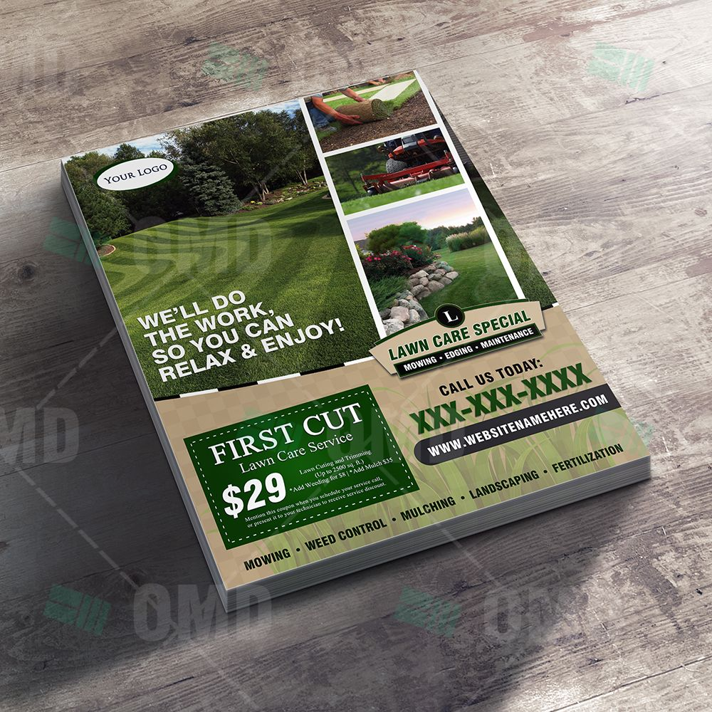 Lawn Care Flyer Design 4 Lawn care business cards, Lawn