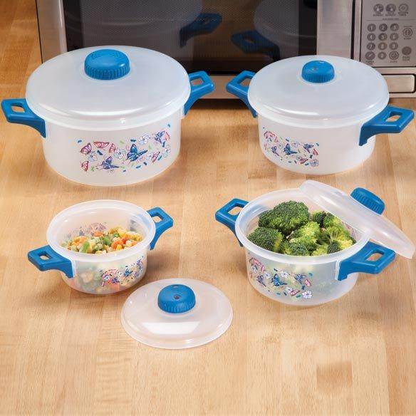 Erfly Microwave Pot Set Cooking Pots Walter Drake