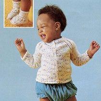 Raglan Cardigan & Booties Knit ePattern