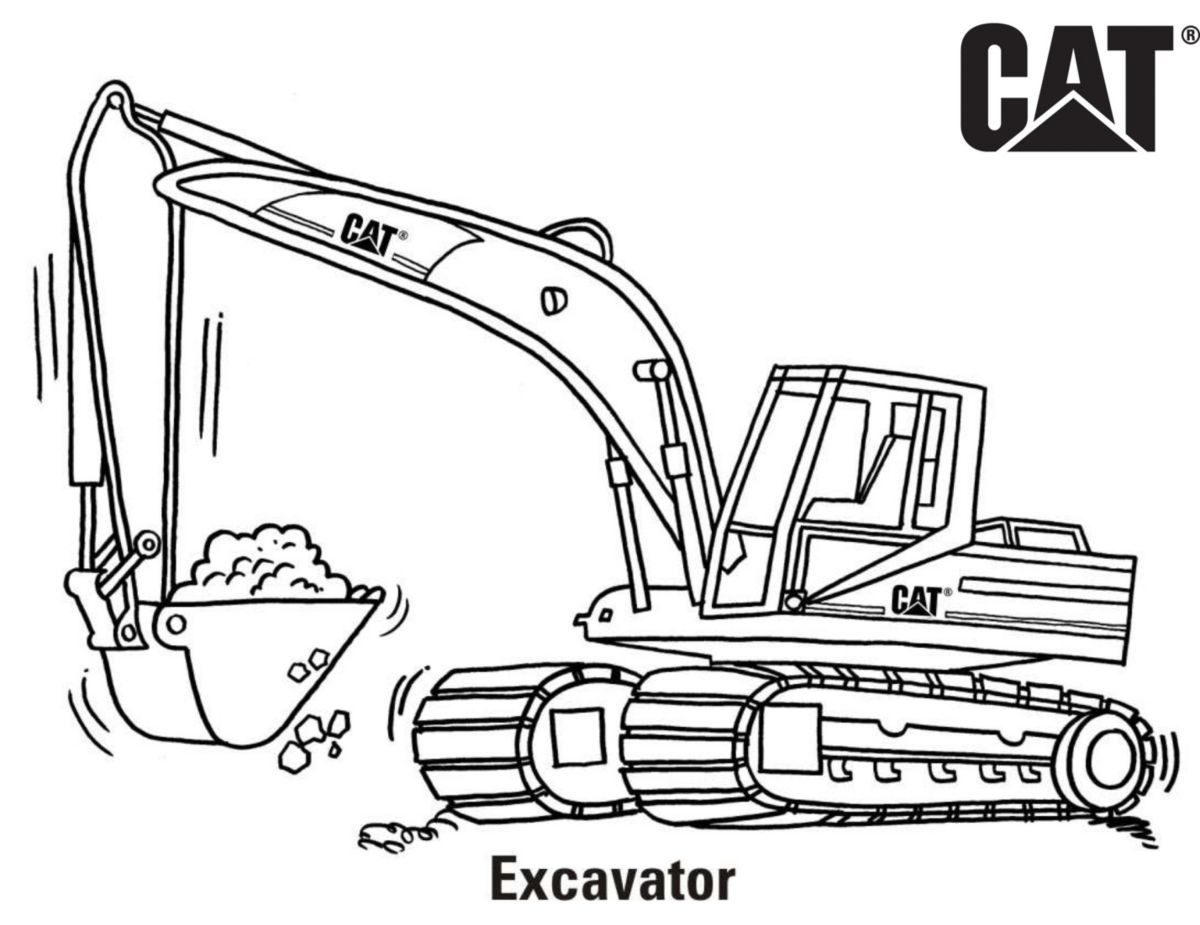 A Href Http S7d2 Scene7 Com Is Content Caterpillar Cm20171101 44169 62536 Download Excavator Emoji Coloring Pages Truck Coloring Pages Cars Coloring Pages