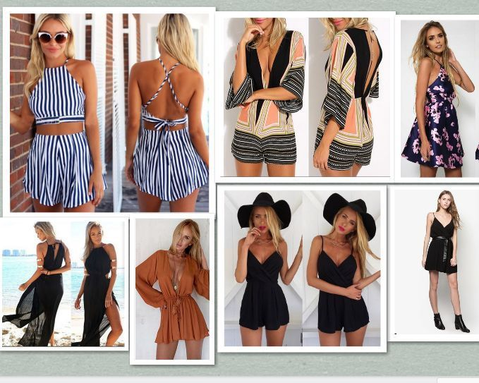 a5f0d895ae01 UK Womens Holiday Mini Playsuit Ladies Jumpsuit Summer Beach Dress Size 6 -  14