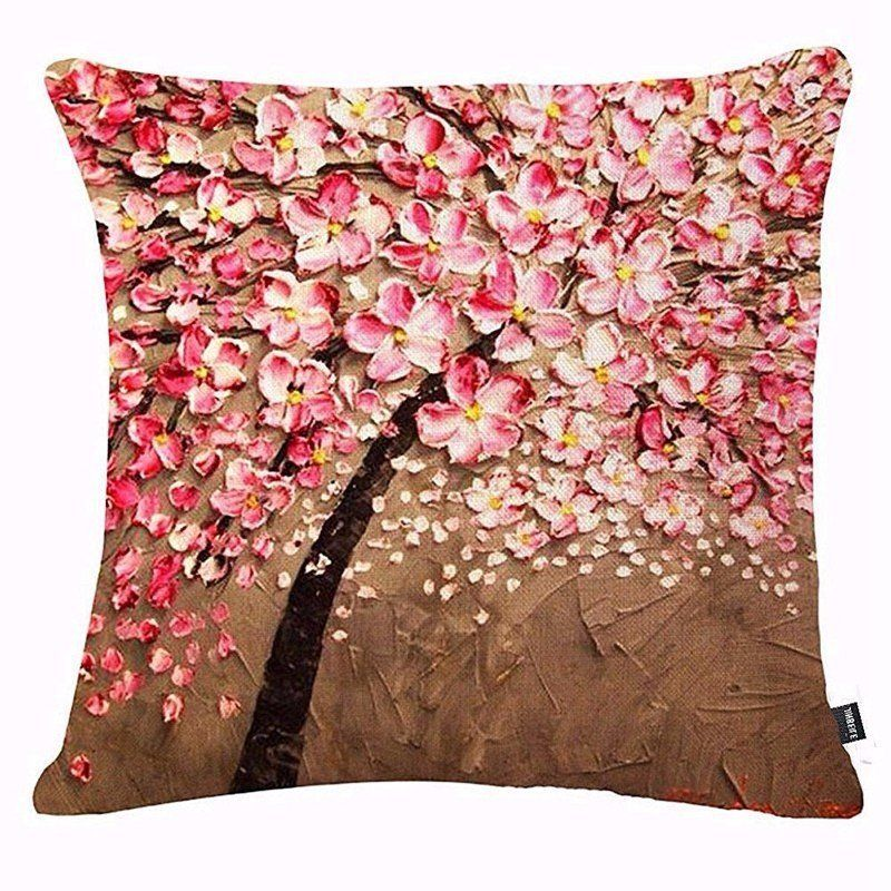 3d Vintage Flower Cotton Linen Pillow Case Waist Cushion Cover Bags Home Car Deco Linen Throw Pillow Linen Pillow Cases Decorative Pillow Cases