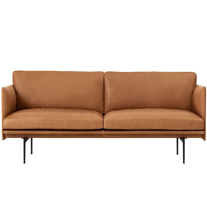 Outline Sofa 2 Sitzer Leder Von Muuto Leather Sofa Sofa Seater Sofa
