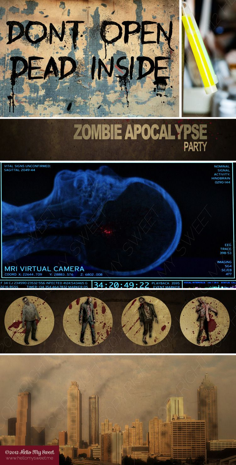 Walking Dead Zombie Party Printable Halloween Decor | The Walking ...