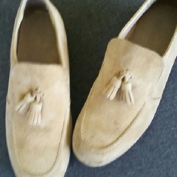 Cute  Loafers  in suede  with  tassels Loafers Shoes Flats & Loafers