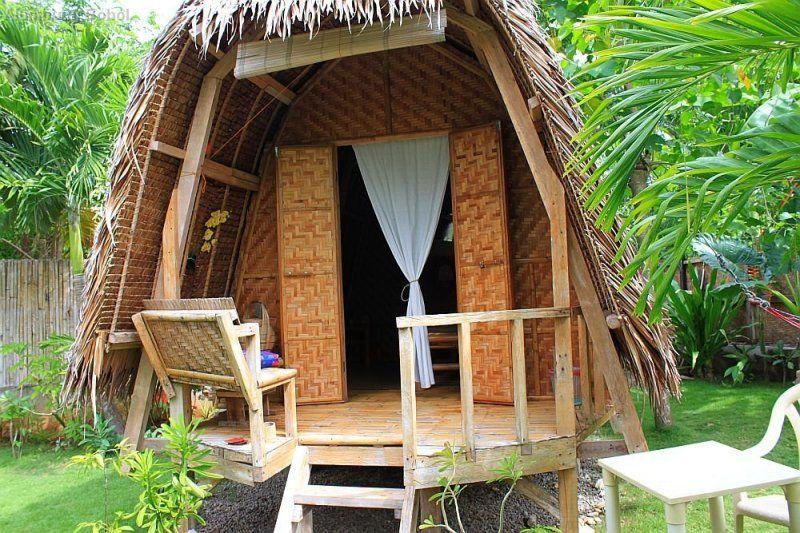 native filipino cottage at a resort in bohol  bamboo