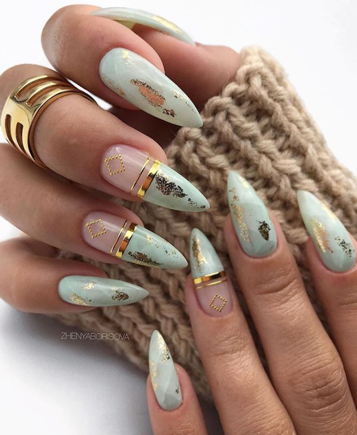 130+ Beautiful Manicure Nails For Short Nails Design Ideas -Square & Almond Nails – Uñas