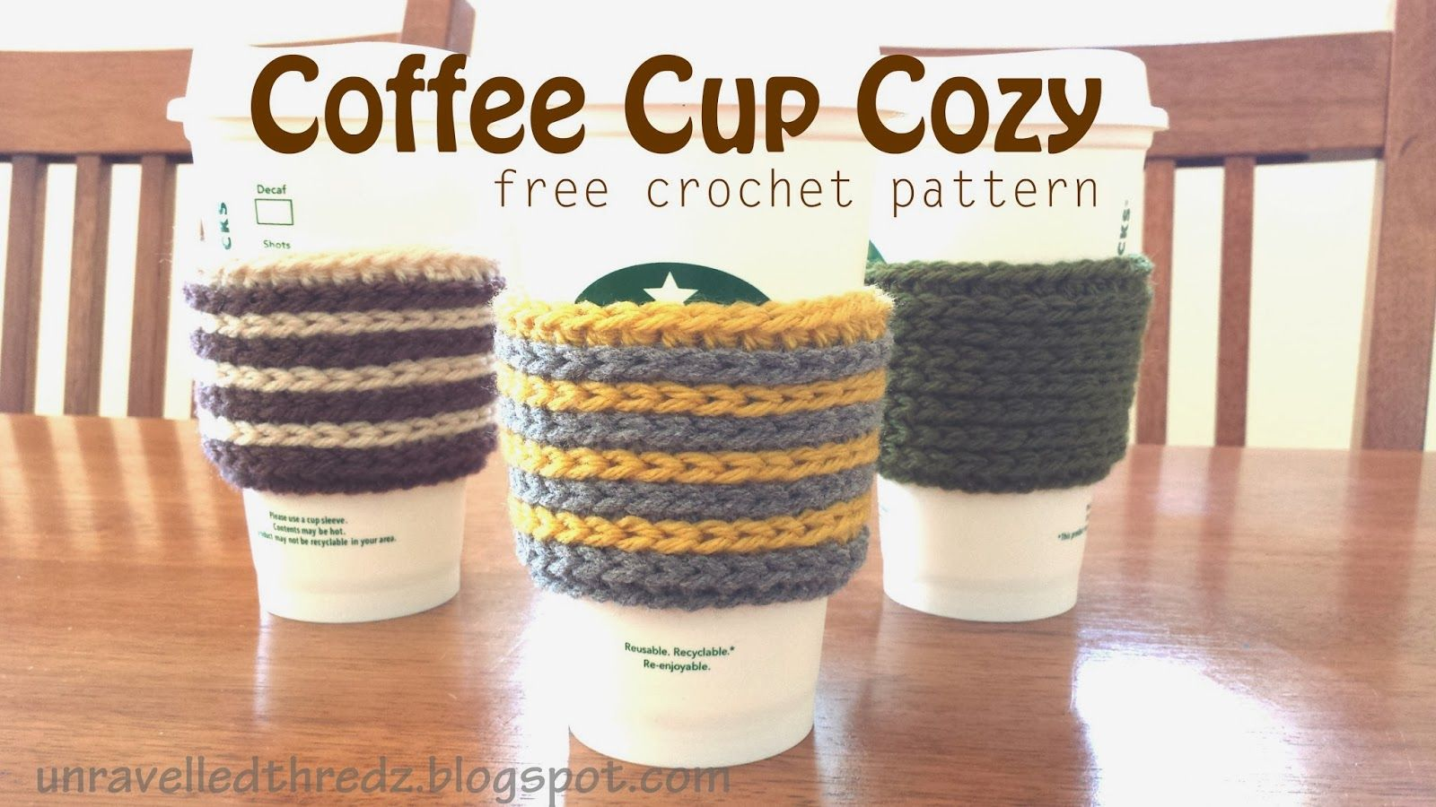 Fantastic Crochet Cozy Cup Pattern Image - Easy Scarf Knitting ...