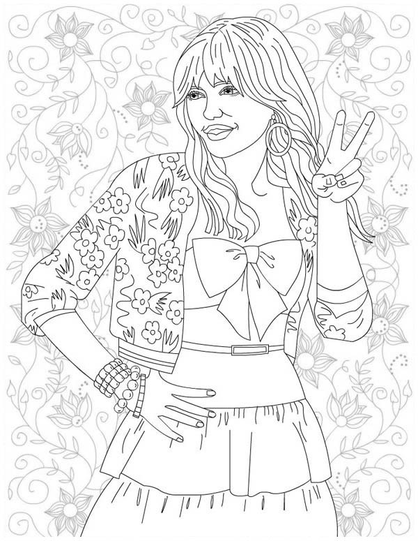 Free Printable Coloring Pages Hannah Montana, Download Free Clip ... | 775x600