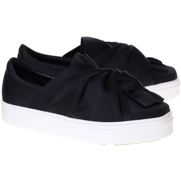 JC Play by Jeffrey Campbell Sneakers ($105) ❤ liked on Polyvore featuring shoes, sneakers, black, black sneakers, black shoes, platform slip on sneakers, slip-on shoes and jeffrey campbell sneakers