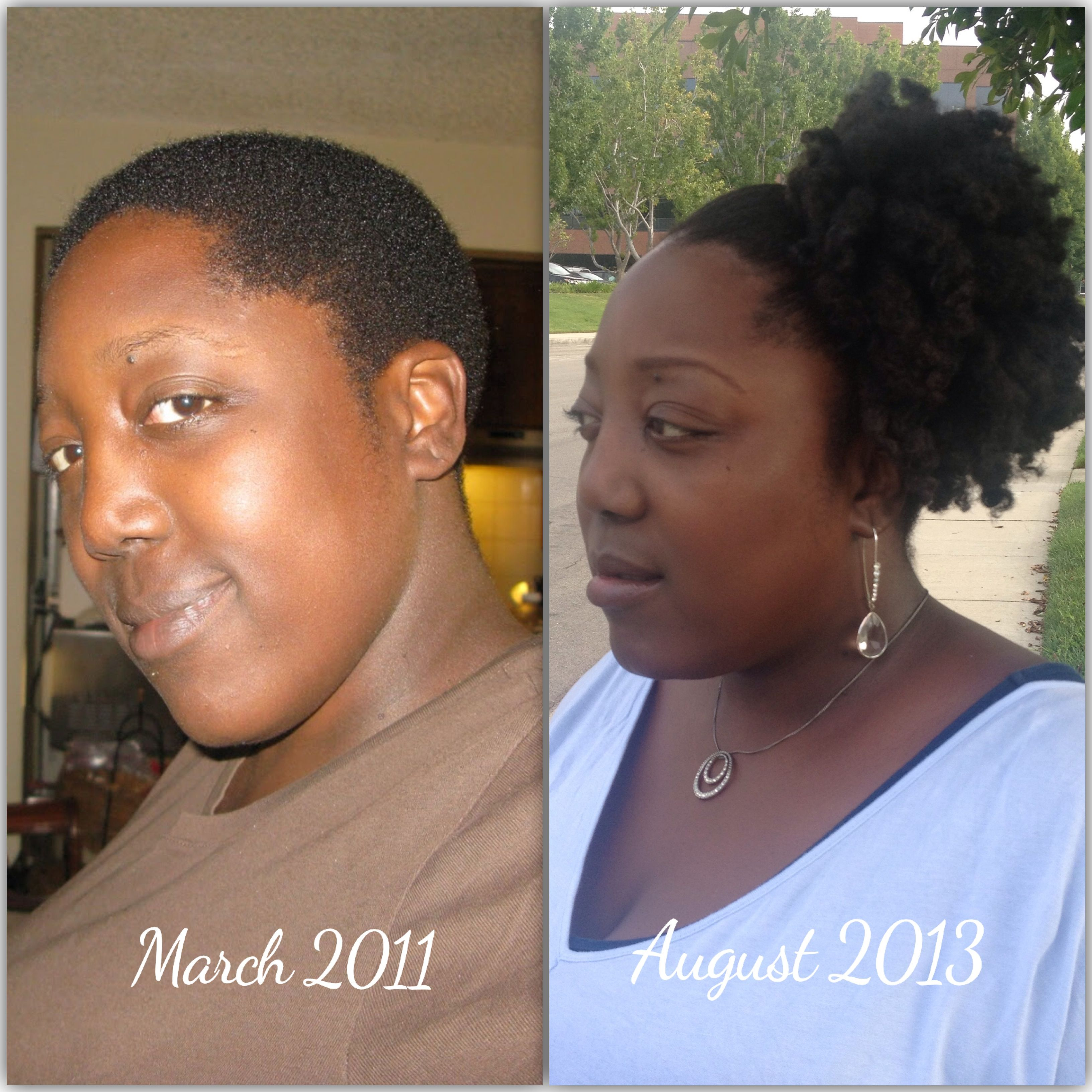 Natural hair growth after big chop two years ago. Visit www