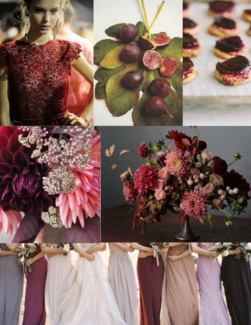Maroon decor for wedding  notes on color beet  fig  pomegranate  Wedding  Pinterest