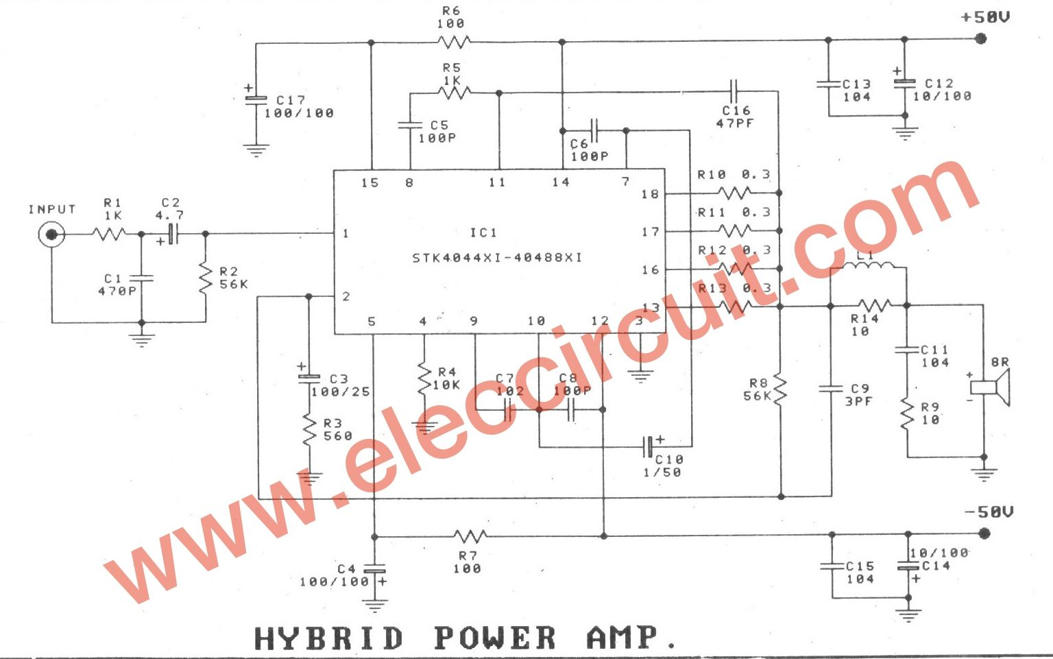 100w subwoofer amplifier circuit diagram single phase motor with two capacitor wiring hybrid power 150w electronic