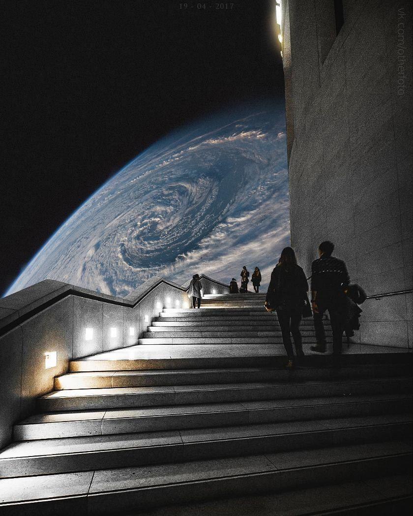 space | earth | night | aesthetic | artsy | black | blue | grey