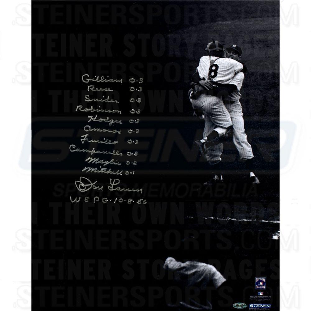 Don Larsen Signed World Series Perfect Game 16x20 Photo w