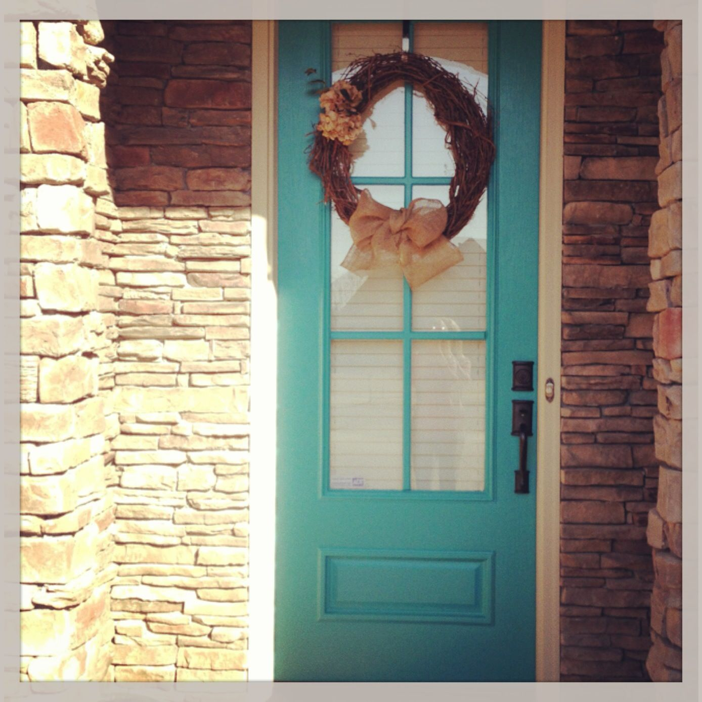 Painted Front Door. La Fonda Teal. Valspar. Could Use This Color Door With