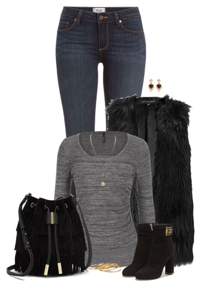 """""""Fall Style"""" by sherry7411 ❤ liked on Polyvore featuring Paige Denim, maurices, Vince Camuto, Salvatore Ferragamo, White House Black Market and Satya"""