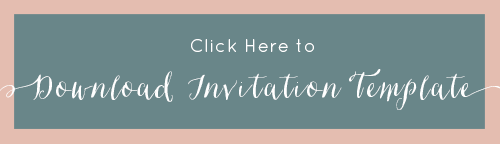 FREE Wedding Invitation Template. See how we put together our DIY invitations and download the FREE wedding design template {ahandcraftedwedding.com} #freeprintable #weddinginvitation