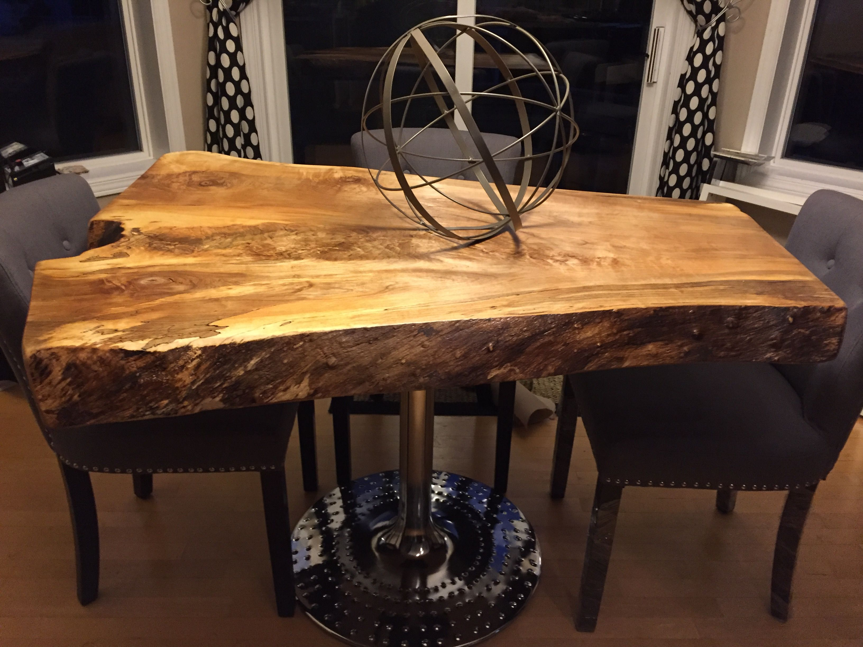 Live edge tables live edge wood tables with metal legs