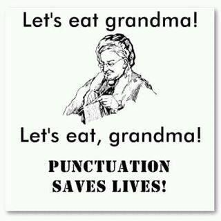 Punctuation saves lives!